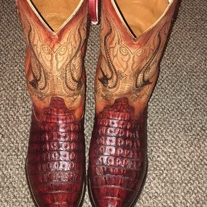 Size 13 EE Authentic Alligator Boots